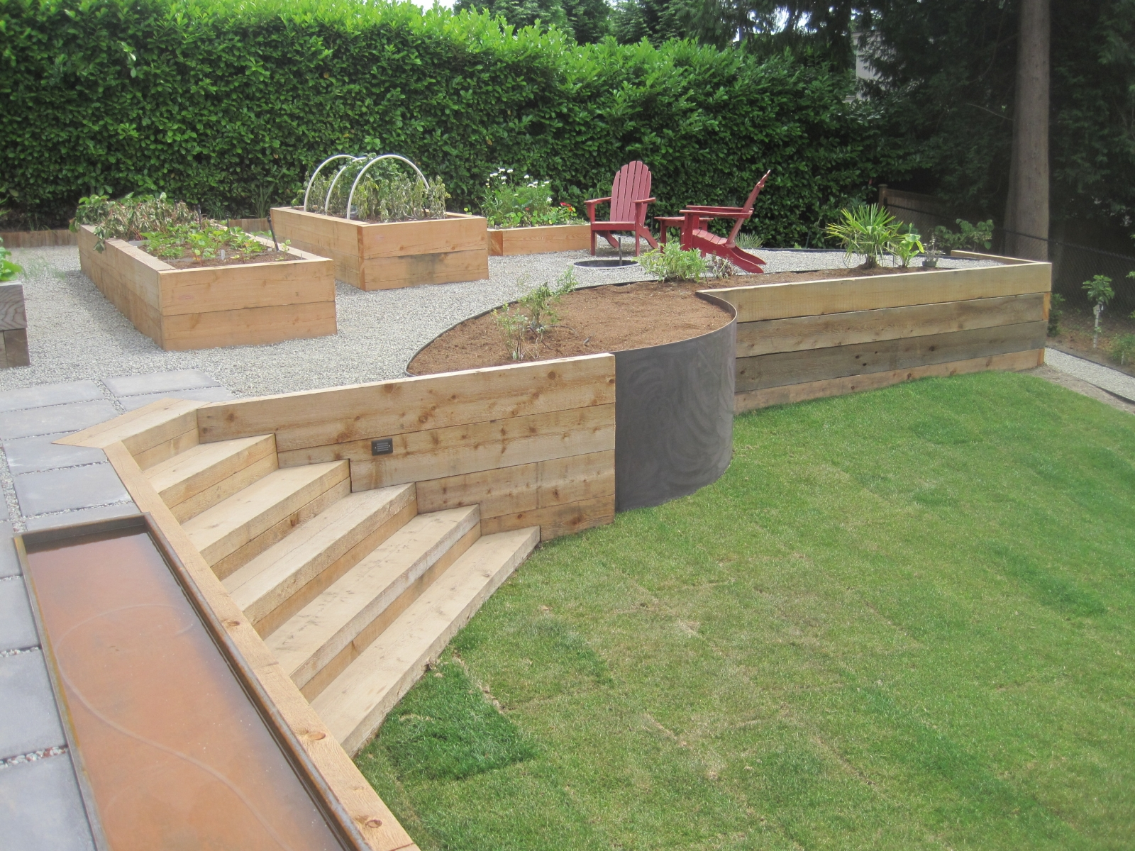 More Project Photos Wood Retaining Wall
